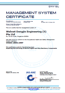Welmet Dongjin Engineering (S) Pte Ltd - OHSAS 18001 2007